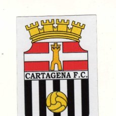 Coleccionismo deportivo: ESCUDO EN PAPEL IMANTADO DEL CARTAGENA F.C. (10 X 6,5 CM.). Lote 16004645