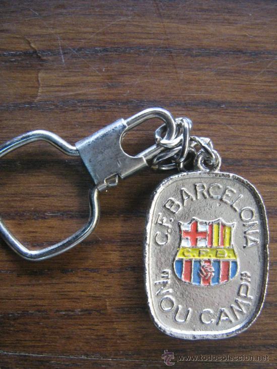 Coleccionismo deportivo: barça fc barcelona estupendo llavero de Club Futbol Barcelona con el Nou Camp - Foto 2 - 17034487