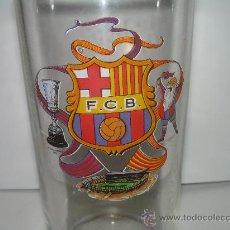 Coleccionismo deportivo: ANTIGUO VASO DE CRISTAL DEL FUTBOL CLUB BARCELONA (F.C.B.). Lote 26603122