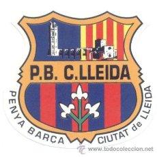 Coleccionismo deportivo: ADHESIVO PENYA BARÇA CIUTAT DE LLEIDA. PEGATINA. FC BARCELONA. ADHESIVOS.. Lote 198564497