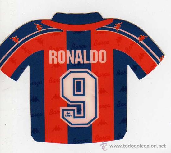 FC BARCELONA - PEGATINA DE RONALDO (Coleccionismo Deportivo - Merchandising y Mascotas - Futbol)
