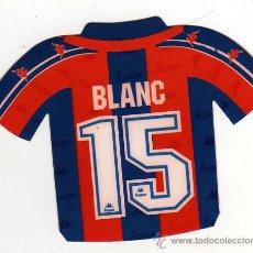 Coleccionismo deportivo: FC BARCELONA - PEGATINA DE BLANC. Lote 18869431