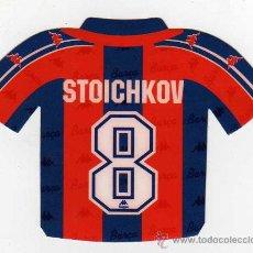 Coleccionismo deportivo: FC BARCELONA - PEGATINA DE STOICHKOV. Lote 18869446
