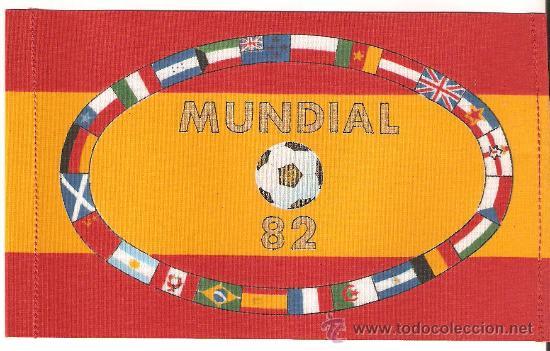 LOTE DE 10 BANDERITAS SOBREMESA DE LOS MUNDIALES DE FUTBOL-82 (15X10) (Coleccionismo Deportivo - Merchandising y Mascotas - Futbol)