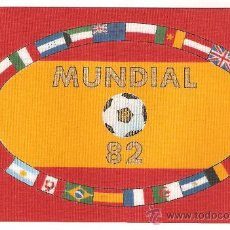 Coleccionismo deportivo: LOTE DE 10 BANDERITAS SOBREMESA DE LOS MUNDIALES DE FUTBOL-82 (15X10). Lote 194549123