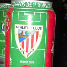 Coleccionismo deportivo: LATA DE COCA COLA LIGA 96-97- ATHLETIC CLUB-EQUIPOS PRIMERA DIVISION-. Lote 19784780