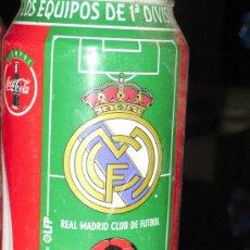 Coleccionismo deportivo: LATA DE COCA COLA LIGA 96-97- REAL MADRID CLUB DE FUTBOL-EQUIPOS PRIMERA DIVISION-. Lote 107334659