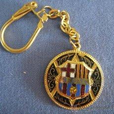 Coleccionismo deportivo: BARÇA FUTBOL CLUB BARCELONA FC LLAVERO AÑOS 60 CON SIGLAS B.C.F RARO!. Lote 19782412