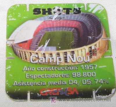 SHOTS DE GREFUSA, CAMP NOU, F.C. BARCELONA (Coleccionismo Deportivo - Merchandising y Mascotas - Futbol)