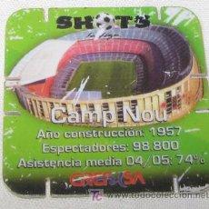 Coleccionismo deportivo: SHOTS DE GREFUSA, CAMP NOU, F.C. BARCELONA. Lote 19845308