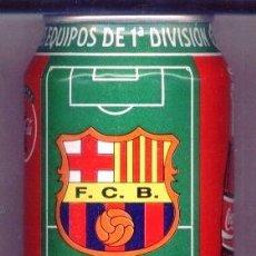 Coleccionismo deportivo: LATA COCA COLA FC BARCELONA LIGA 96/97. COCACOLA. VACIA. BARÇA.. Lote 37373454