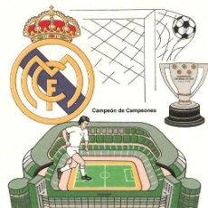 Coleccionismo deportivo: AZULEJO REAL MADRID 10X10 CM. Lote 21109258