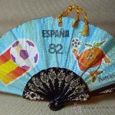Coleccionismo deportivo: ANTIGUO ABANICO, ESPAÑA 1982, NARANJITO, MEDIDAS: 22X12 CM. . Lote 21394565
