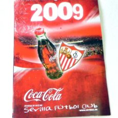 Coleccionismo deportivo: CALENDARIO DE PARED DEL SEVILLA FC Y COCA COLA AÑO 2009 - EQUIPO JUGADORES FÚTBOL DEPORTE COCACOLA. Lote 25253964