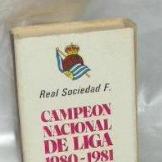 Coleccionismo deportivo: CAJA DE CERILLAS DE LA REAL SOCIEDAD,CAMPEÓN DE LIGA 1980-81. Lote 22349891