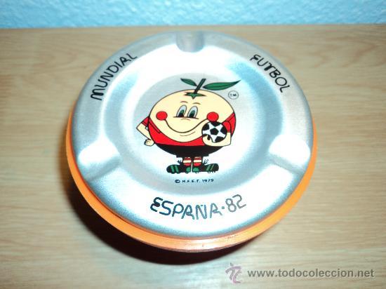 CENICERO NARANJITO MUNDIAL ESPAÑA 1982. (Coleccionismo Deportivo - Merchandising y Mascotas - Futbol)