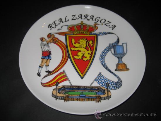 PLATO DE PORCELANA. FUTBOL REAL ZARAGOZA (Coleccionismo Deportivo - Merchandising y Mascotas - Futbol)