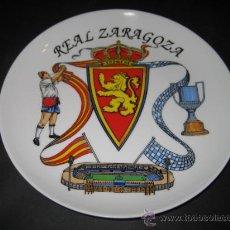 Coleccionismo deportivo: PLATO DE PORCELANA. FUTBOL REAL ZARAGOZA. Lote 24401871
