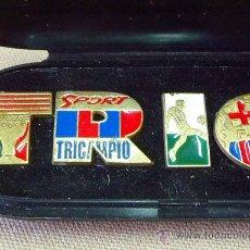 Coleccionismo deportivo: PREMIUM DIARIO SPORT, PINS FUTBOL CLUB BARCELONA, FCB, 9 PINS. Lote 24697823