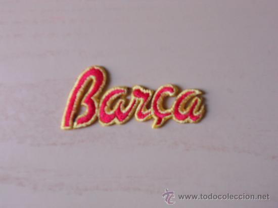EMBLEMA DE TELA DEL FC BARCELONA. AÑOS 90 (BARÇA) (Coleccionismo Deportivo - Merchandising y Mascotas - Futbol)