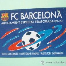 Coleccionismo deportivo: CARNET DE SOCIO DEL F.C.BARCELONA TEMPORADA 89-90. Lote 25028248