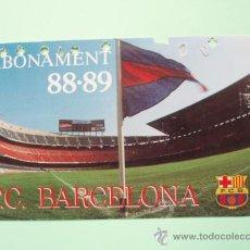 Coleccionismo deportivo: CARNET DE SOCIO DEL F.C.BARCELONA TEMPORADA 88 - 89. Lote 25028335
