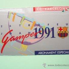 Coleccionismo deportivo: CARNET DE SOCIO DEL F.C.BARCELONA TEMPORADA 1.991. Lote 25028633