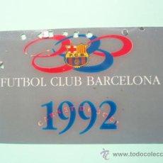 Coleccionismo deportivo: CARNET DE SOCIO DEL F.C.BARCELONA TEMPORADA 1.992. Lote 25028780