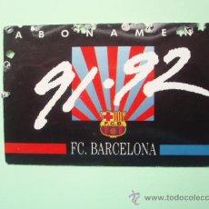Coleccionismo deportivo: CARNET DE SOCIO DEL F.C.BARCELONA TEMPORADA 1.991 - 92. Lote 25028852