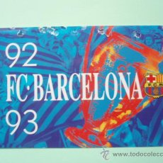 Coleccionismo deportivo: CARNET DE SOCIO DEL F.C.BARCELONA TEMPORADA 1.992 - 93. Lote 25028950