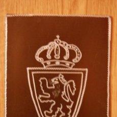 Coleccionismo deportivo: ESCUDO DEL ZARAGOZA 12X11 GRABADO A MANO EN ALUMINIO. Lote 26535876