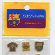 Coleccionismo deportivo: LAMINA CON 18 STICKERS EN RELIEVE - F.C. BARCELONA (BARÇA) PRODUCTO OFICIAL. Lote 25190769