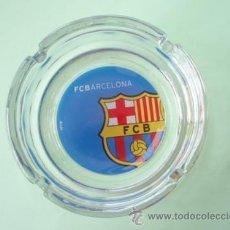 Coleccionismo deportivo: CENICERO DE CRISTAL DEL F.C.BARCELONA NUEVO. Lote 27489316
