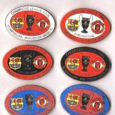 Coleccionismo deportivo: 8 PINS CHAMPIONS FINAL 2009 FUTBOL CLUB BARCELONA / BARÇA VS MANCHESTER UNITED FC. Lote 27538538
