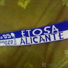 Coleccionismo deportivo: BUFANDA BASKET ETOSA ALICANTE COPA 2005. ACB. TIPO LANA. Lote 28819763