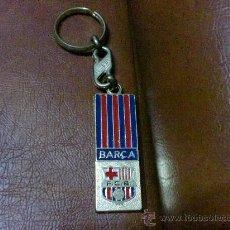 Coleccionismo deportivo: LLAVERO: F.C. BARCELONA-BARÇA- OFICIAL- MIDE 5,50X2,00 CMS.. Lote 28869336