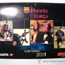Coleccionismo deportivo: PLANETA BARÇA - CALENDARIO 2001 - DIARIO SPORT - AGFA. Lote 29525222