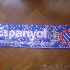 Coleccionismo deportivo: BUFANDA FUTBOL R.C.D. ESPANYOL PUBLICIDAD CERVEZA ESTRELLA DAMM. Lote 29751943
