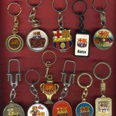 Coleccionismo deportivo: LOTE DE 11 LLAVEROS DE FUTBOL , BARCELONA ,ORIGINAL. Lote 29803534