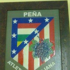 Coleccionismo deportivo: CUADRO PEÑA ATLETICA RIOJANA ATLETICO DE MADRID - CAR80. Lote 29851634