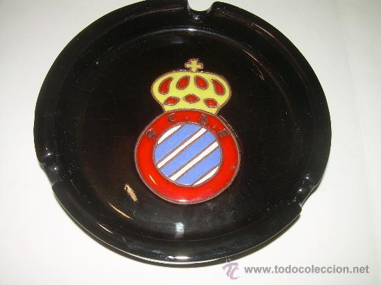 ANTIGUO CENICERO DE CERAMICA......R.C.D. ESPAÑOL. (Coleccionismo Deportivo - Merchandising y Mascotas - Futbol)