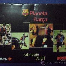 Coleccionismo deportivo: CALENDARIO 2001 FUTBOL CLUB F.C BARCELONA CF BARÇA FC SPORT CON FOTOS DE LOS JUGADORES. Lote 30326489