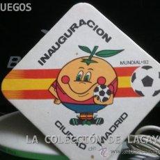 Coleccionismo deportivo: POSAVASOS MUNDIAL 82 SEDE MADRID. Lote 30623467