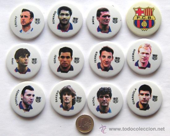 LOTE 12 IMANES MAGNETS FC BARCELONA DIFER. JUGADORES DREAM TEAM. 4,5 CM DIAMETRO. CALIDAD !!! (Coleccionismo Deportivo - Merchandising y Mascotas - Futbol)