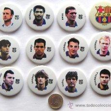 Coleccionismo deportivo: LOTE 12 IMANES MAGNETS FC BARCELONA DIFER. JUGADORES DREAM TEAM. 4,5 CM DIAMETRO. CALIDAD !!!. Lote 30930430