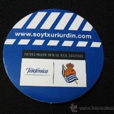 Coleccionismo deportivo: PEGATINA REAL SOCIEDAD SOYTXURIURDIN TELEFONICA. Lote 31145157