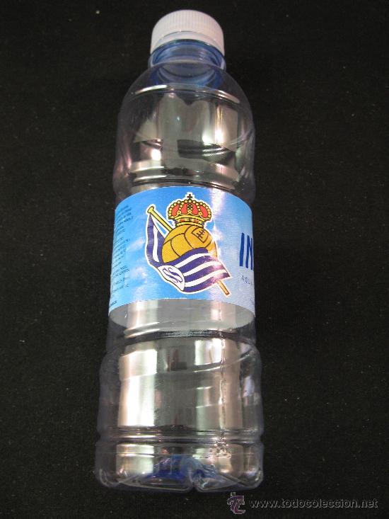BOTELLA PLASTICO AGUA VACIA INSALUS - CENTENARIO REAL SOCIEDAD (Coleccionismo Deportivo - Merchandising y Mascotas - Futbol)