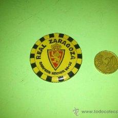 Coleccionismo deportivo: CHAPA REAL ZARAGOZA CAMPEON RECOPA 94-95... RARA.. Lote 31873414