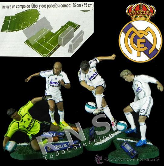LOTE FIGURAS DE FTCHAMPS DEL REAL MADRID - RAÚL CASILLAS RONALDO DAVID BECKHAM FÚTBOL FIGURA JUGUETE (Coleccionismo Deportivo - Merchandising y Mascotas - Futbol)