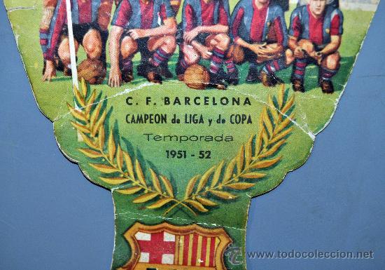 Coleccionismo deportivo: PAY PAY DEDICADO A C.F. BARCELONA CAMPEON DE LIGA Y COPA 1951-1952. CHAMPAÑA RAMALLETS - Foto 2 - 52524928